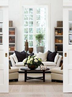 48 Beautiful Black And White Interior Design Living Room Décor Ideas nevaeh n Design Living Room, Home Living Room, Living Room Decor, Living Spaces, Home Design, Interior Design, Interior Doors, Interior Paint, Design Ideas