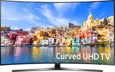 """Samsung - 43"""" Class (42.5"""" Diag.) - LED - Curved - 2160p - Smart - 4K Ultra HD TV with High Dynamic Range - Black"""