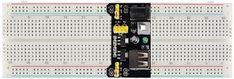 MB102 Breadboard Power Supply Module Interfacing Power Electronics, Bread Board, Turn Off, Power Led