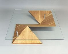 A modern twist on the traditional coffee table. The angular shape of the design gives the Origami Coffee Table its depth and dimension. Created by designer Martin Pitonak, each table is custom. Stylish Coffee Table, Coffee Table Design, Modern Coffee Tables, Coffe Table, Table Furniture, Rustic Furniture, Modern Furniture, Furniture Design, Luxury Furniture