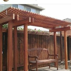 Arbor modeled after the ones at Sac State #redwood #carpentry #woodwork #shamrockhomerepair #ilikewhatido de shamrockhomerepair