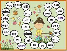 Spanish high frequency words game boards. Fun learning activity. Juegos para practicar palabras de uso frequente.