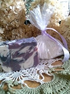 Lavender Milk Bath Set with Lavender Buttermilk Soap and a relaxing Lavender Milk Bath Blend