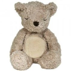 The Glow Cuddles Bear is a soft-touch activated bear that has a heartbeat, vibrates, and glows to help kids aged birth and up with bedtime.