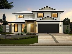 oliver facade b double garage is a very functional four bed study two - Double Storey House Plans