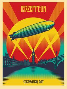 INSIDE THE ROCK POSTER FRAME BLOG: Led Zeppelin Celebration Day Poster by Shepard Fairey Relase Details