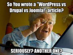 "So You wrote a ""WordPress vs Drupal vs Joomla!"" article?"