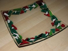 fused glass christmas - Google Search
