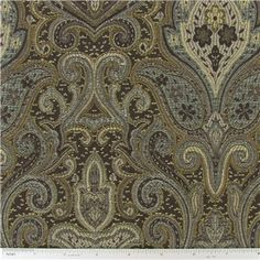 "Hogan Paisley Home Decor Fabric is 56"" wide and 75% polyester & 25% rayon.    	CARE INSTRUCTIONS - Dry Clean Only.    	Available in 1-yard increments. Average bolt size is approximately 14 yards. Price displayed is for 1-yard. Enter the total number of yards you want to order."