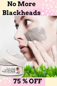 Get Rid of Blackheads with our Charcoal Blackhead Mask. This Carbonated Bubble Clay Charcoal Blackhead Mask is both a deep-cleansing makeup remover like a homemade blackhead cream! It's formulated with key ingredients like charcoal powder, green tea extracts and collagen. Our Original Charcoal Blackhead Mask. 75 % Off  #blackheadsremovalmask #HomeMadeBlackhead #blackheadsremovalmaskproducts  #CharcoalBlackheadMask #homemadeblackhead #charcoalblackheadmask #blackheadsremovalhomemade #blackhead Anti Aging Mask, Best Anti Aging Creams, Anti Aging Skin Care, Blackheads Removal Cream, Deep Blackheads, Blackhead Remover Homemade, Blackhead Mask, Best Blackhead Treatment, Anti Aging Treatments