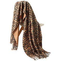 Stampa Leopardata Sciarpa DONNA LADY WINTER Scialle Pashmina Stola COPERTA Wrap sciarpe