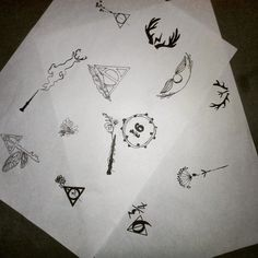 Minimalist drawings and fine on Harry Potter topic Maybe tattoo for a friend ...