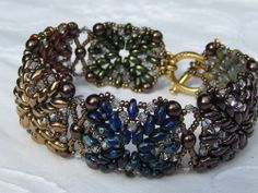 Bead&Button Show: Bead&Button Show Workshops & Classes: Tuesday June 3, 2014: B143097 Quilters Fancy SuperDuo Bracelet