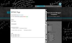 Blackboard Template Blogger