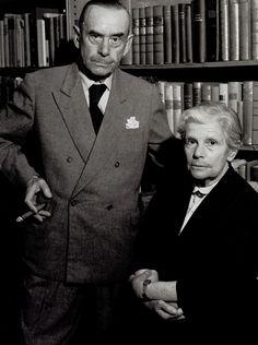 Thomas Mann & Wife by Brassai