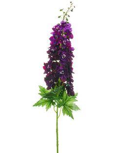 """Delphinium Silk Flower Spray in Dark Purple<br>37.5"""" Tall For Water Column"""
