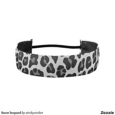 Snow leopard athletic headband