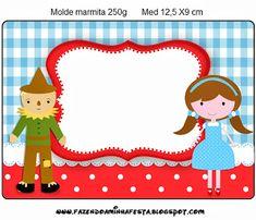 Mágico de Oz - Kit Completo com molduras para convites, rótulos para guloseimas…