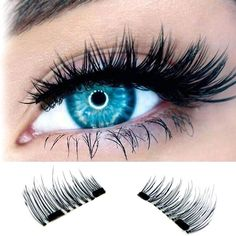 1 Pairs 3D Magnetic False Eyelashes Soft Natural Makeup Mink Magnet Fake Eyelashes Natural Eye Lashes Extension Handmade New #Affiliate
