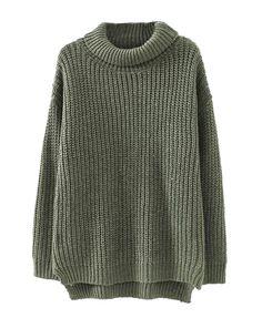 High Collar Loose Fit Knitwear