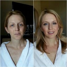 Amazing before/after makeup session by Gina Petersen