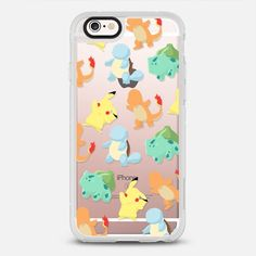 The Starters - protective iPhone 6 phone case in Clear and Clear by Roxanneeee   Catch them all ! Let's go! >>> https://www.casetify.com/product/the-starters/iphone6s/new-standard-case#/177607   @casetify