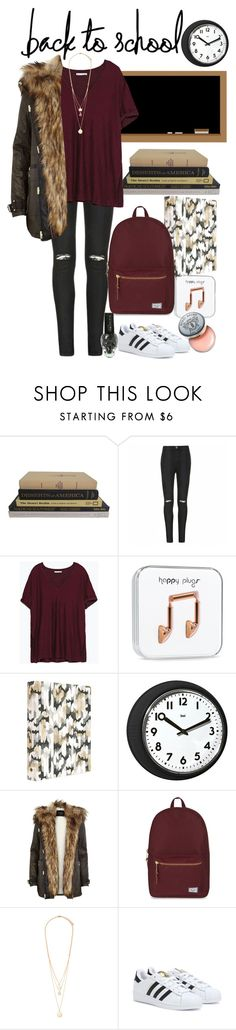 """""""Back to School Parka"""" by thestylelookout ❤ liked on Polyvore featuring Ally Fashion, Zara, Universal Lighting and Decor, River Island, Herschel Supply Co., Forever 21, adidas, Bobbi Brown Cosmetics, BackToSchool and jeans"""