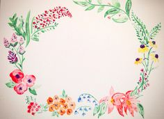 watercolor frame Mary Beth Kidd
