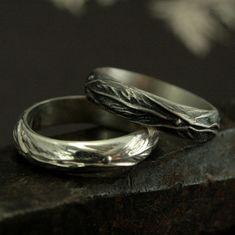 Elven Ring  Sterling Silver Leaf Design Ring  door RevolutionBA