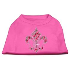 Mirage cat Products 18-Inch Holiday Fleur de Lis Rhinestone Print Shirt for cats, XX-Large, Bright Pink > To view further, visit now : Cat Apparel