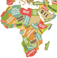 Africa and the Middle East. | This Map Showing What Each Country Leads The World In Is Really Quite Cool