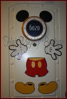 Mickey Mouse Body Part Magnet for Cruise Door. $13.00, via Etsy.