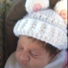 Baby crotchet beanie.