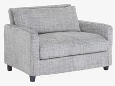 ++ CHESTER GREY Fabric Compact sofa