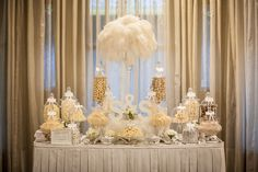 White on White Candy Table.