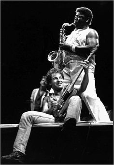 The Big Man (Clarence Clemons) & Scooter (Bruce Springsteen)