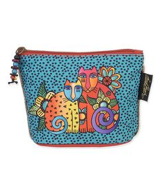 Look what I found on #zulily! Teal & Red Feline Cosmetic Bag by Laurel Burch #zulilyfinds