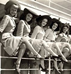"vintage-retro: "" Beautiful Women of the 1940's. ♥ """