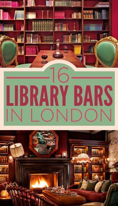 16 Incredible Library Bars In London. Would love to visit a library bar. The Places Youll Go, Places To Go, Places To Travel, Travel Destinations, Travel Things, Library Bar, Library Books, Reisen In Europa, Voyage Europe