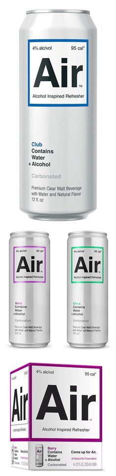Minimalistic Packaging Design for Air Beverages