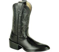 Dan Post Boots Unisex Children's Cowboy Round Toe Black Size 1.5 D