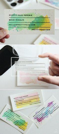 Ombré Watercolour Paper for cards, place settings, etc...