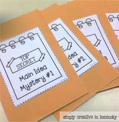 Determining main idea & key details with fun mystery envelopes