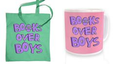 With Love for Books: Books Over Boys Tote Bag & Mug Giveaway