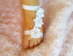 These adorable barefoot booties are sure to turn heads! They are cute, comfy and unique! Gladiator Sandals are trendy right now and these are the perfect option for your little one!