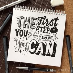 ~The first step is you have to say that you can!~ ✨ Day 10 of #letteringwithpositivity With @jeshypark @hazelslettering @lettersbyshells and @leslie.writes.it.all . . And 11/365 of my project!!! #orahandlettering #365daysoflettering #365daysoftype #calligraphy #lettering #handlettering #handletteringnewbie #modernlettering #moderncalligraphy #dailylettering #letteringchallenge #dailychallenge #brushpen  #typespire #typography #typographyinspired #brushtype #type #handdrawn #handdrawntype…