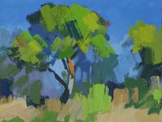 Pine Tree at Frauques July Study 2 by Philip Richardson