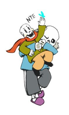 sans and papyrus - skelebros by MagicStarFriends