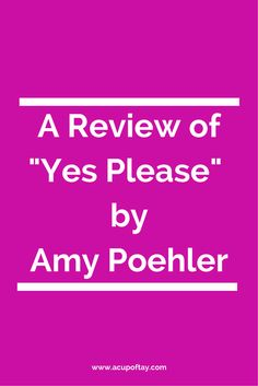You'll like this book if you like: Sarcasm, female empowerment, brutal honesty, career advice, life advice sans the self-help book, and of course, Amy P.