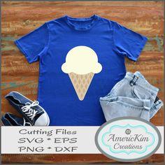 """Ice Cream Cone"" SVG Digital Download, Cutting file, T-shirt Design Cutting Files, Shirt Designs, Ice Cream, Digital, T Shirt, No Churn Ice Cream, Supreme T Shirt, Tee Shirt, Icecream Craft"